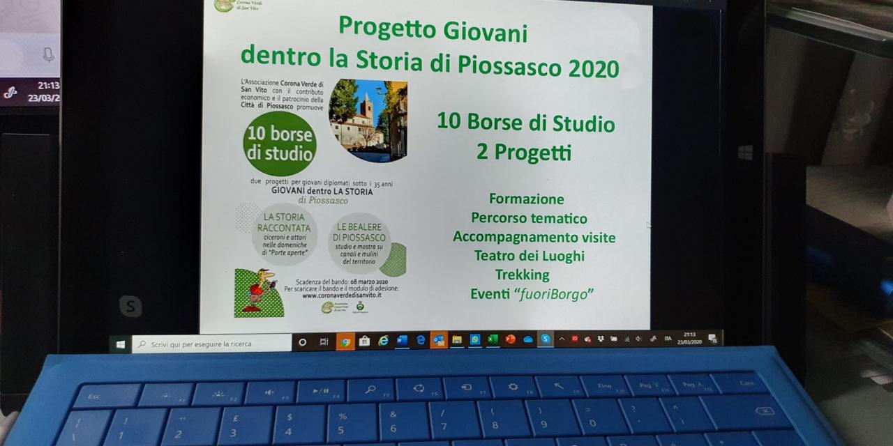 Inizio Progetto Giovani – 2020